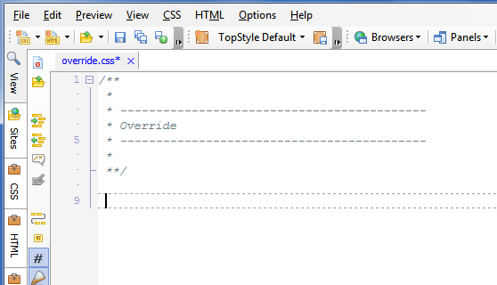 ... editor can be used to add styles to your child theme's style.css