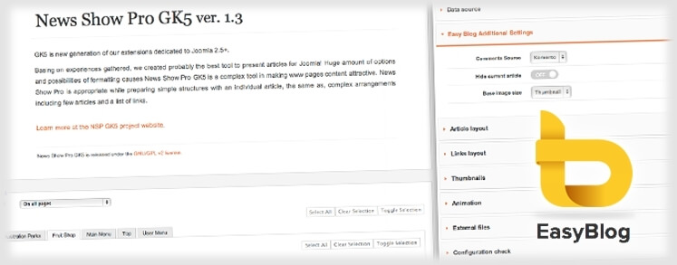 News Show Pro GK5 now supports Easy Blog!