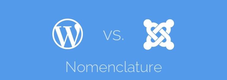 WordPress vs. Joomla! – nomenclature