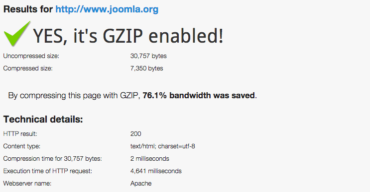 Gzip compression tester