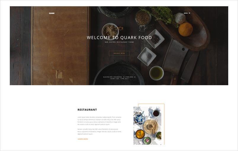 Restaurant Style for Quark Template