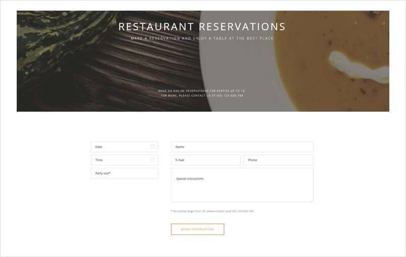 Quark theme reservation system