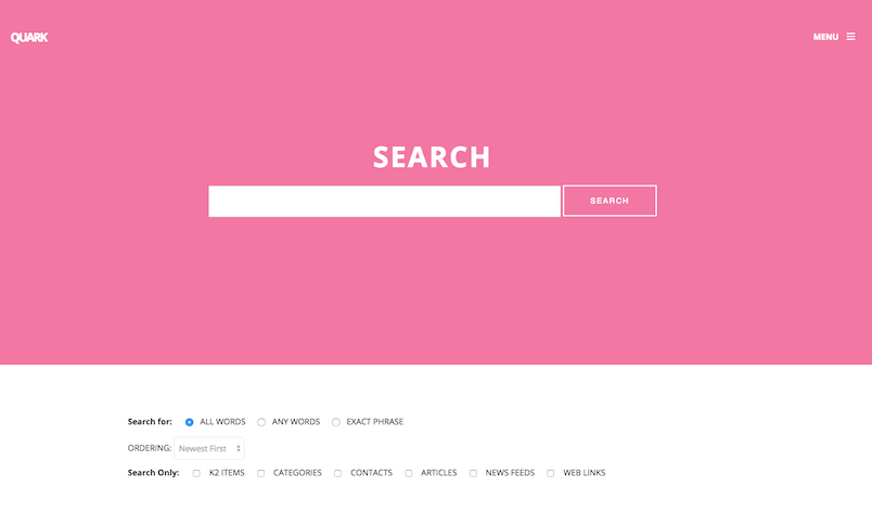 Search page