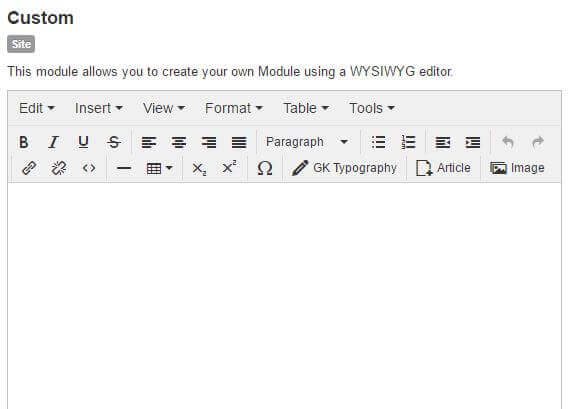 joomla custom html module view
