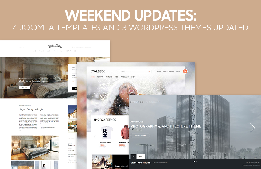 Weekend Updates: 3 Joomla templates and 3 WordPress themes updated