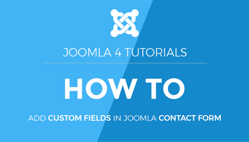 custom fields in Joomla 4 contact form