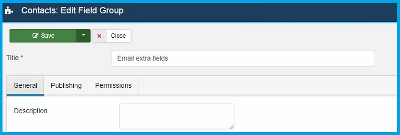 Joomla 4 contact custom fields