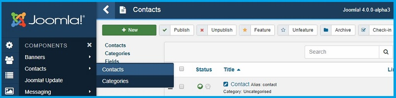 Joomla 4 contact form