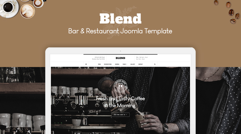gk blend Restaurant Joomla template released