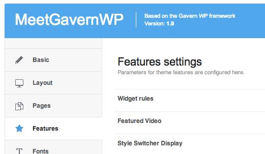 Gavern WordPress Framework Features