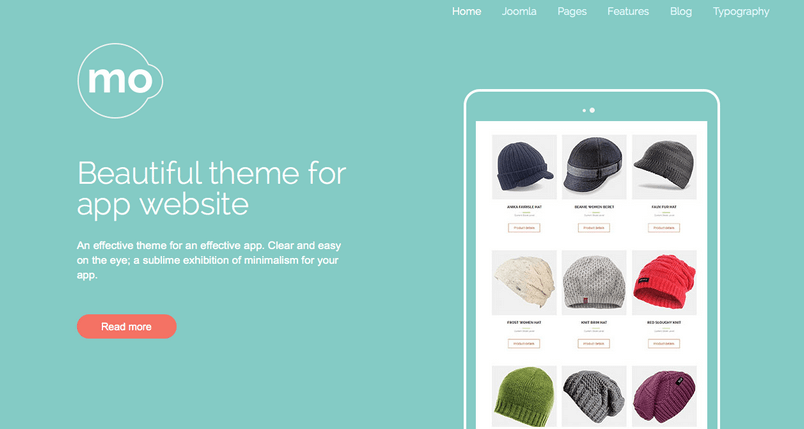 An image of the first header option in the MO Joomla! template