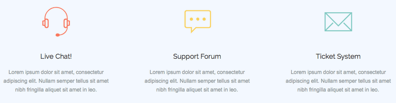 An example of the use of icons in the MO Joomla! template