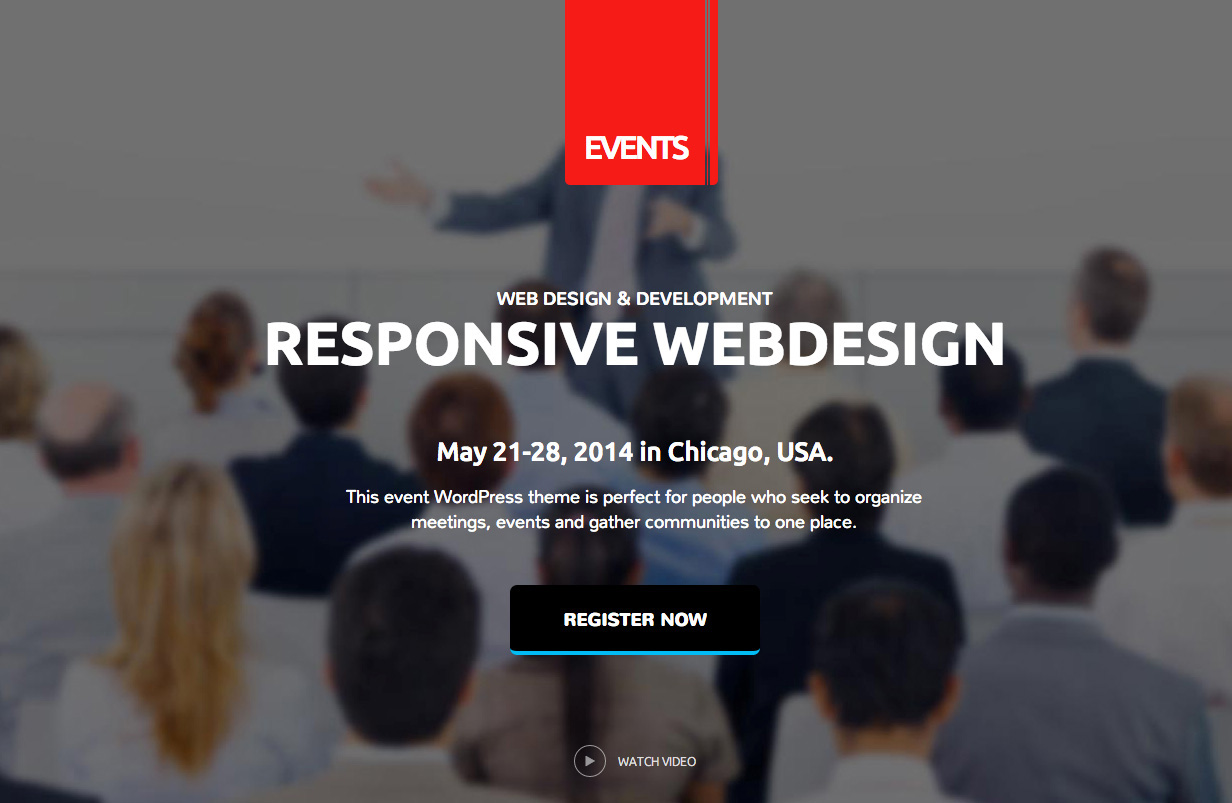 How to install and configure the Events WordPress theme?