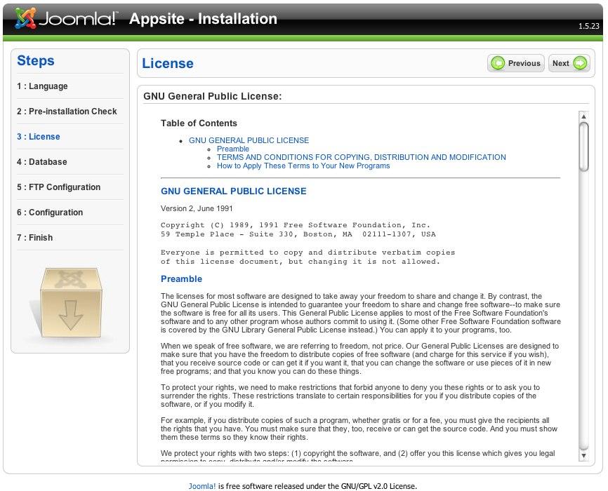 Joomla! Web Installer-2