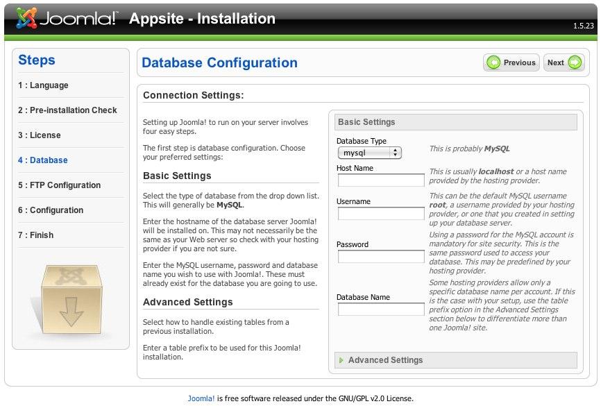 Joomla! Web Installer-3