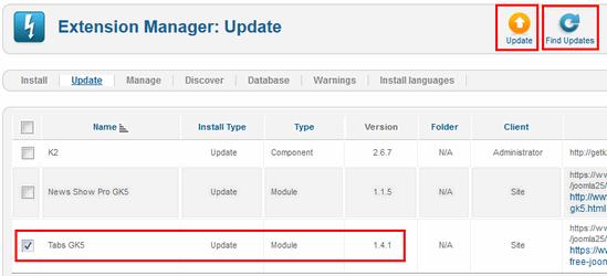 tabs module update