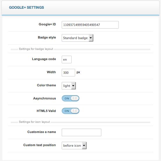 google+ settings