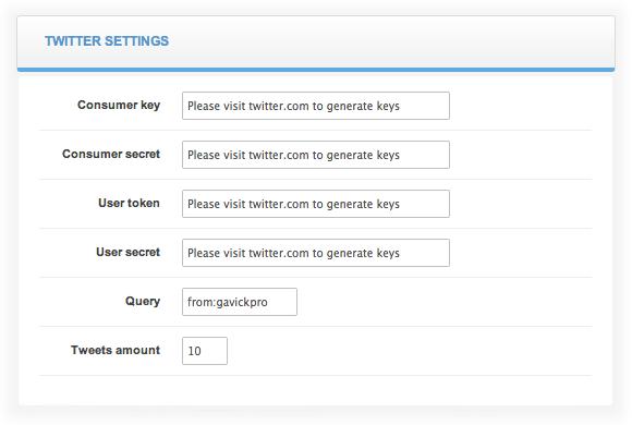 twitter configuration