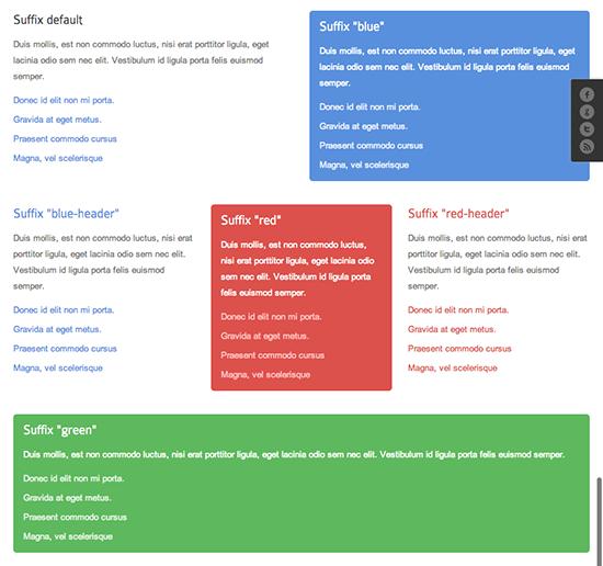 Joomla template Framework Module variations - tablet