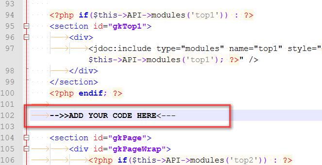 add code here