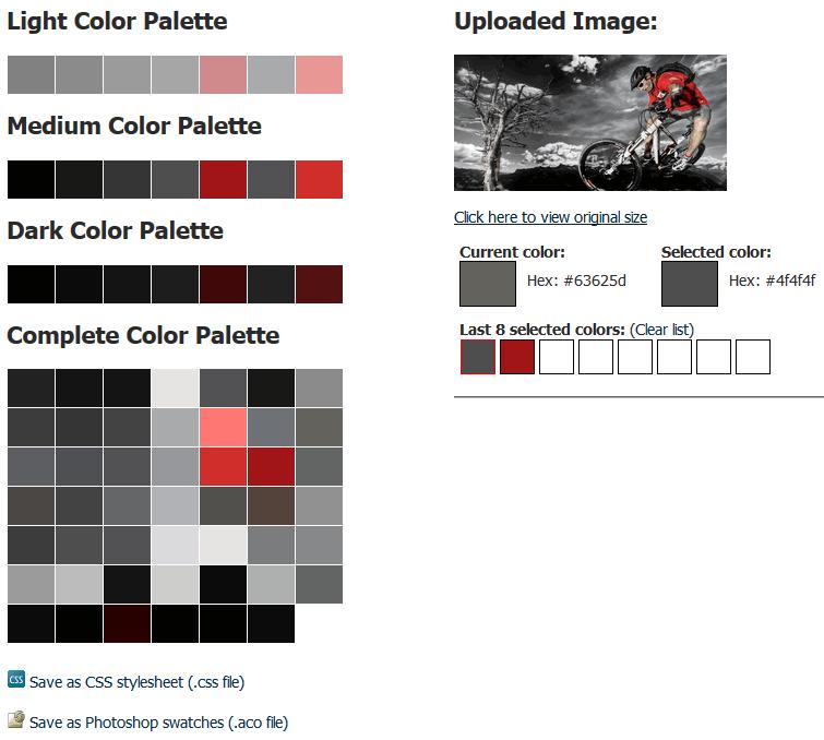 Color scheme based on slideshow image