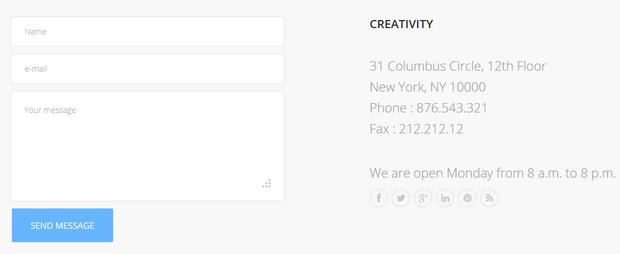 GK Contact inside GK Creativity template