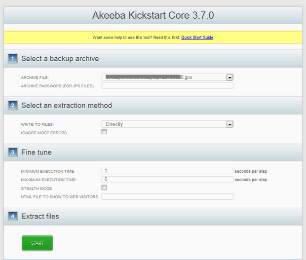 kickstart-akeeba-gavic-support