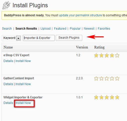Importer-Exporter-widget