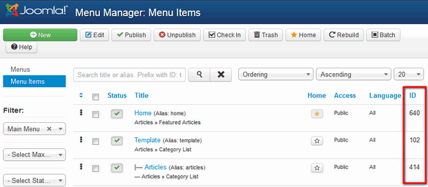 How to add icons to your Joomla menu items