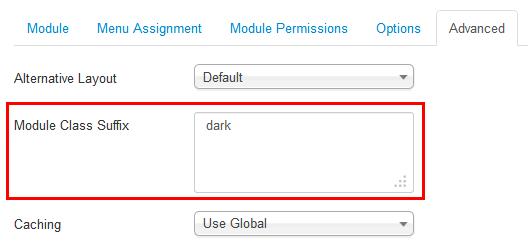 Dark suffix for module