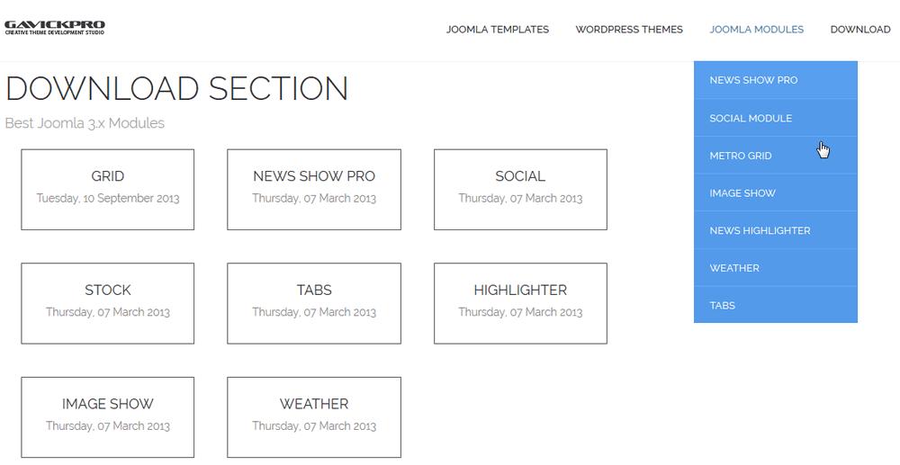 modules from gavick - joomla developer