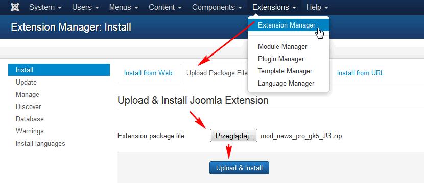 installing joomla module