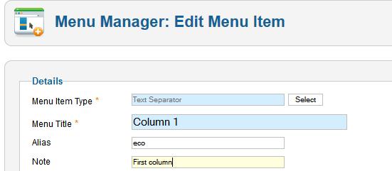 how to make main menu item as defult