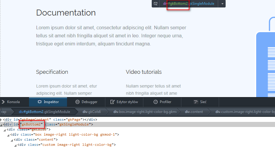 Style Inspector default tool under new Firefox