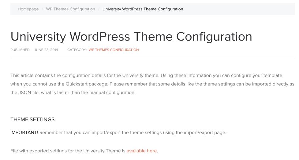 Import theme settings in the GavernWP WordPress framework