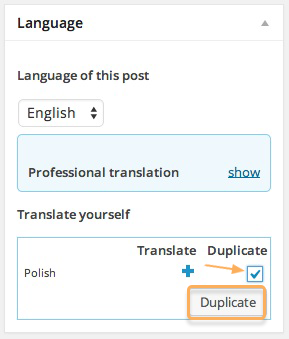duplicated content in language section