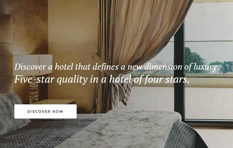the hotel joomla template header image and text overlay