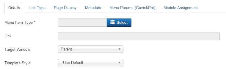 creating a new menu item in joomla