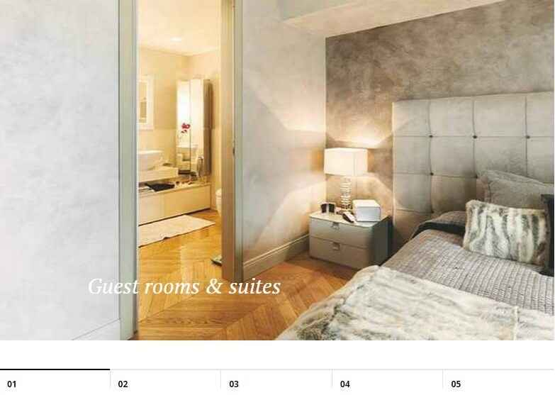 slides displaying hotel room photos