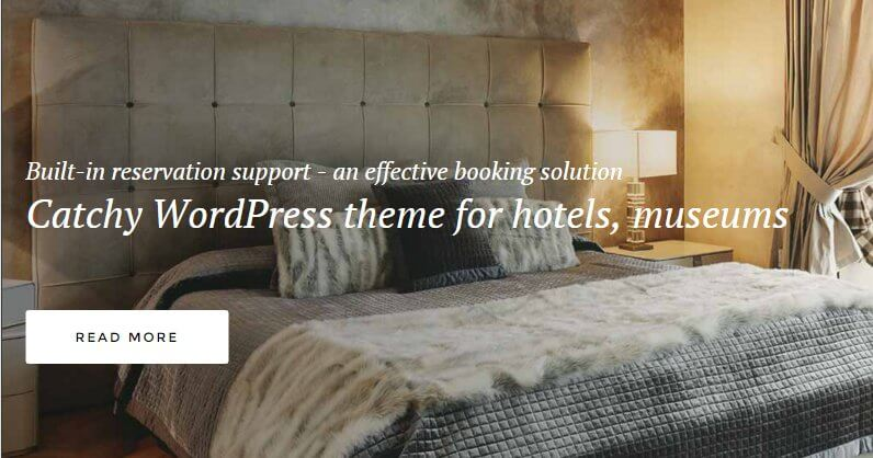 the header slideshow of the hotel wordpress theme