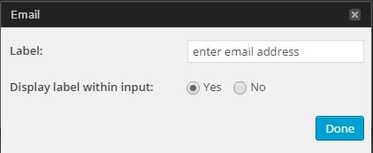 The form creator in the mailpoet wordpress plugin