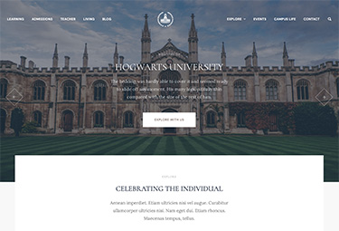 education and university joomla template