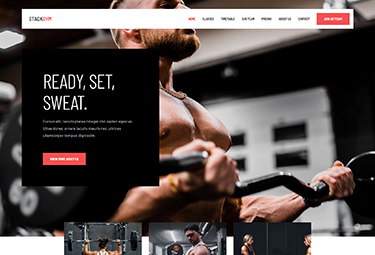Joomla fitness and yoga template