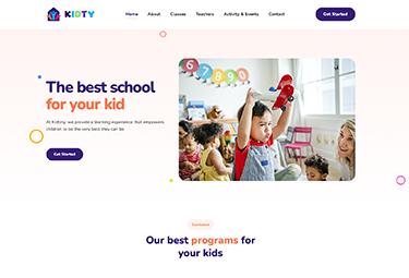 Joomla kindergarten template