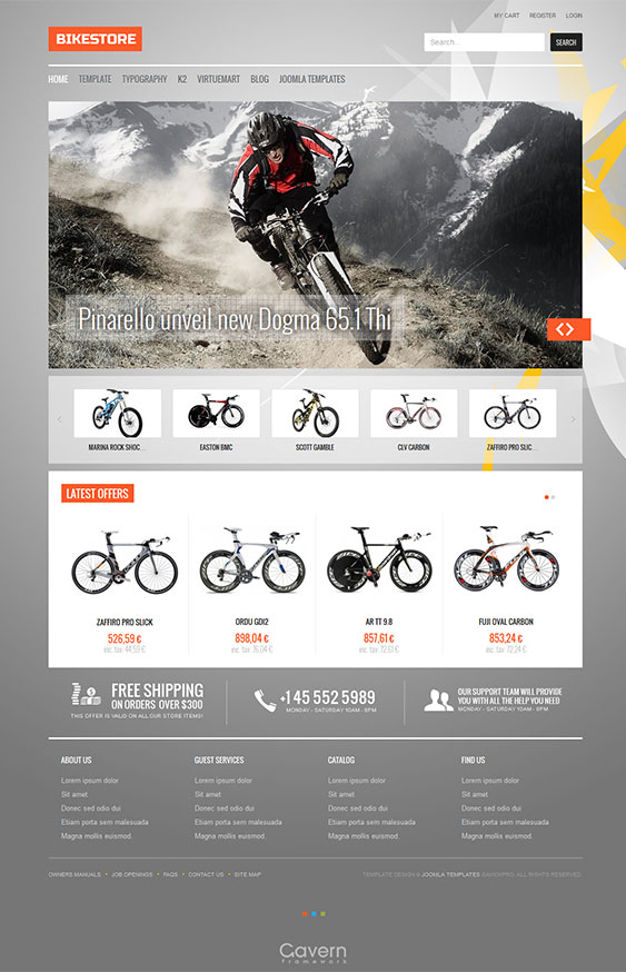 Bikes Online Shop Bike Store eCommerce