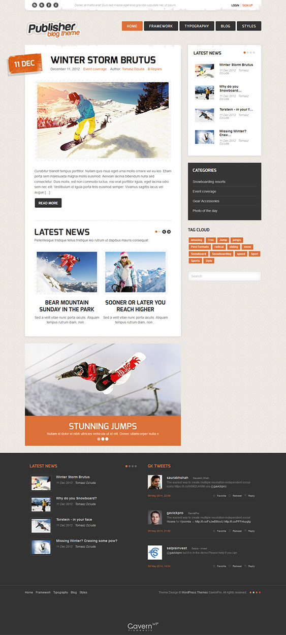 Publisher - Blog WordPress Theme
