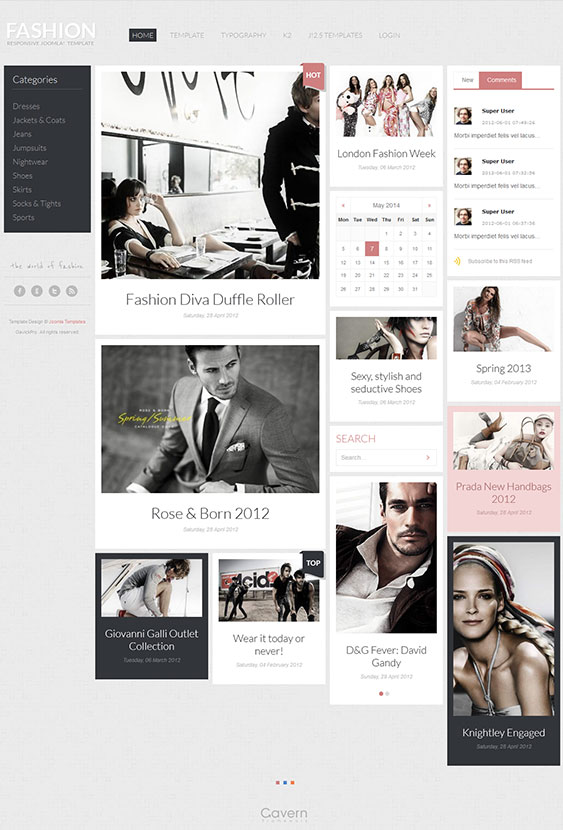Fashion | Hair Joomla Beauty Template for Fashion News Website & Blogs