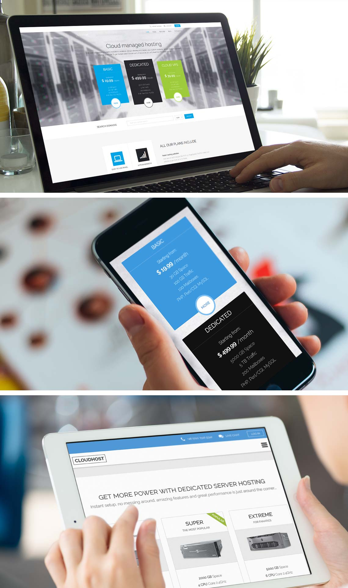 CloudHost - Best Hosting  Joomla Template