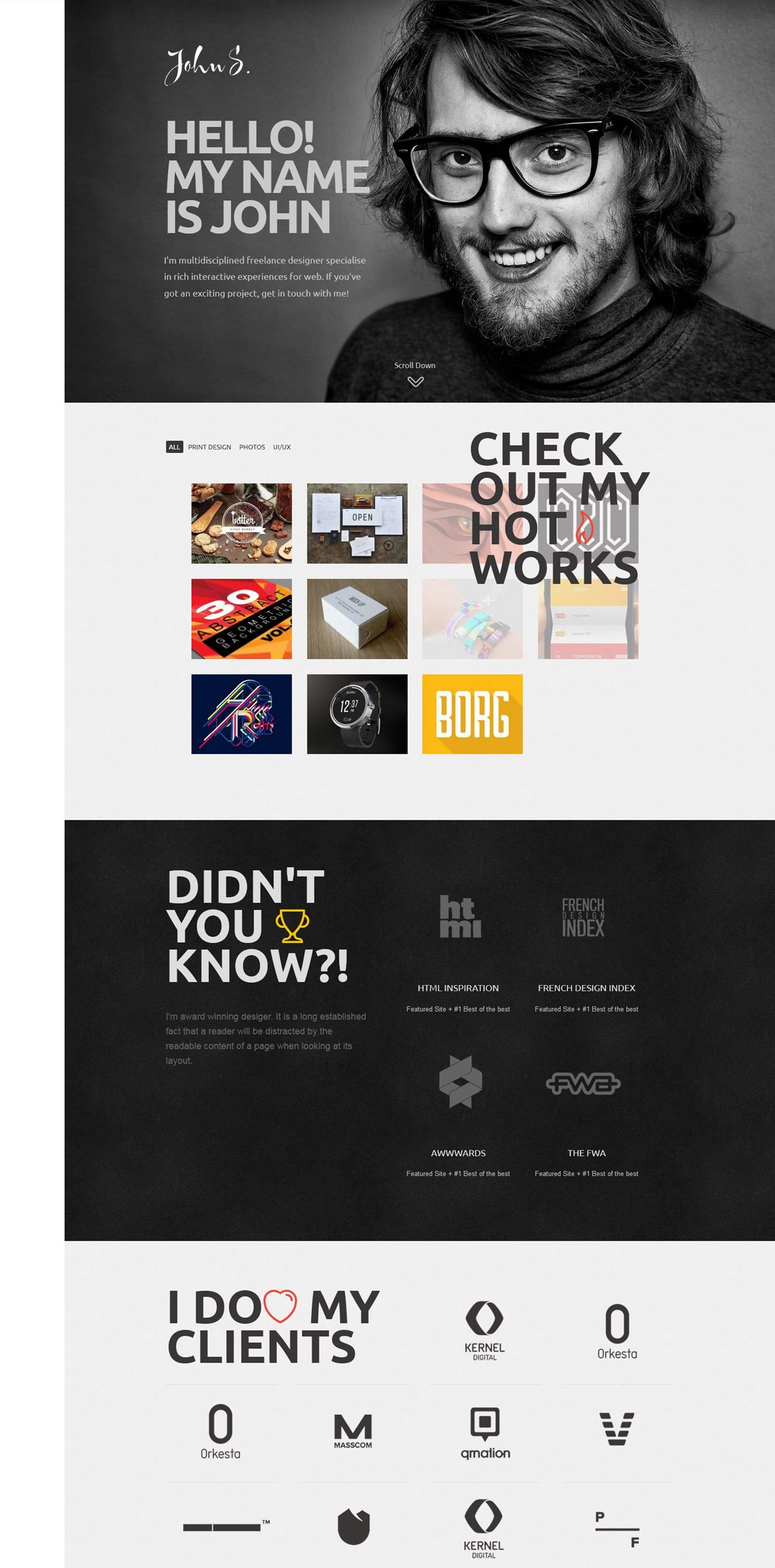 John | Premium Portfolio Wordpress Theme for Freelance Professionals ...