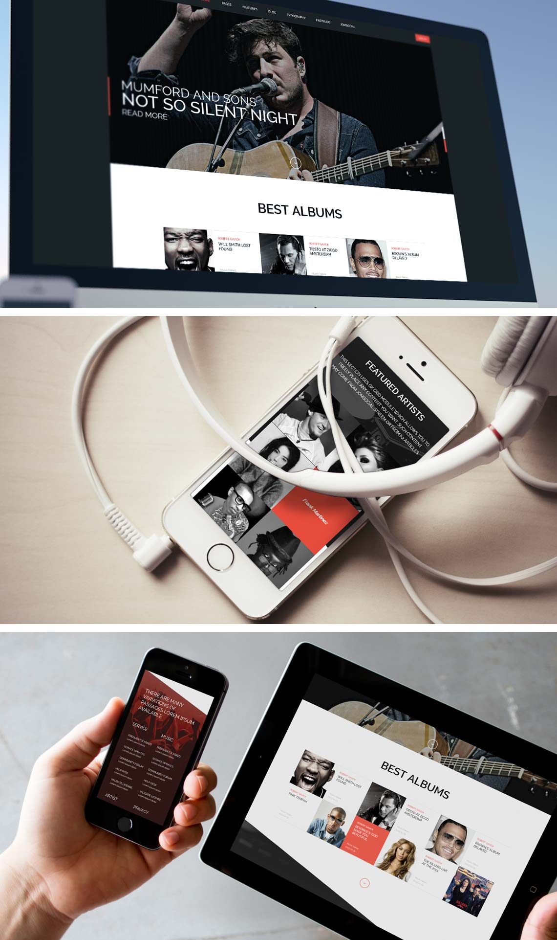 Music State - Responsive Joomla Music & Bands Template